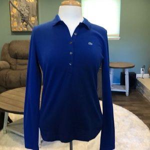 Lacoste blue long sleeve shirt size 10
